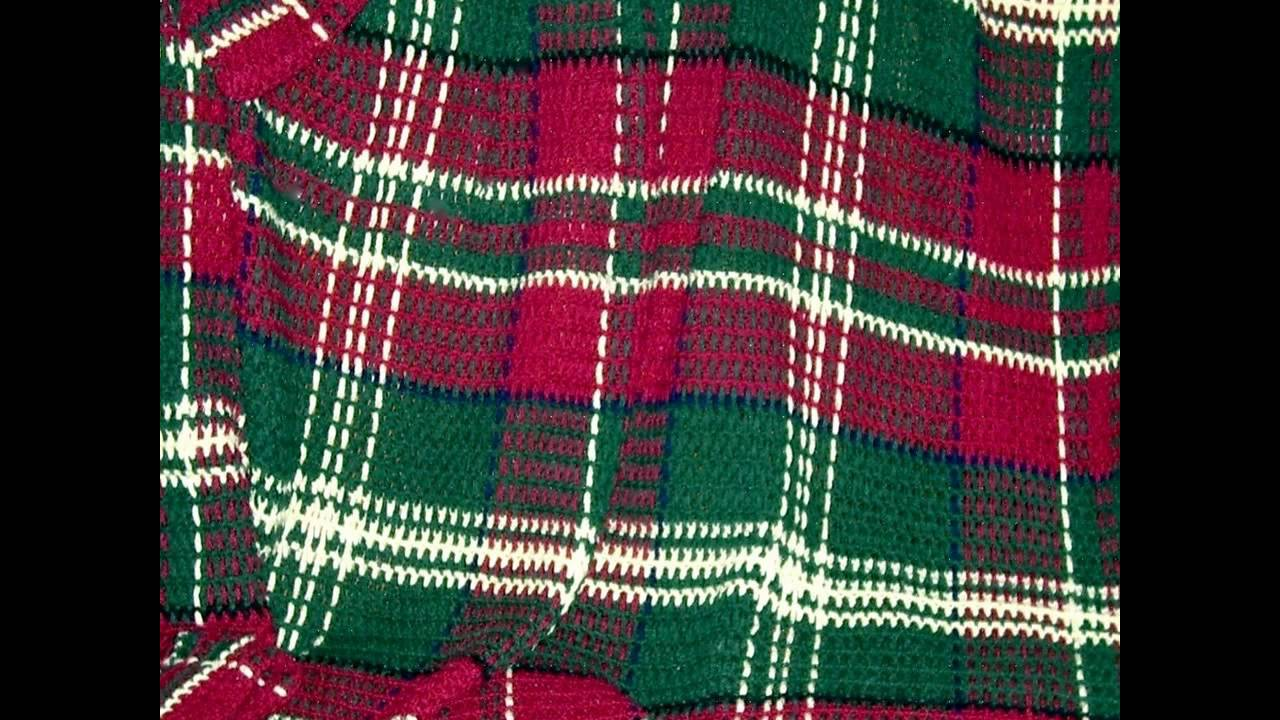 Crochet a tartan blanket ~ How to - YouTube