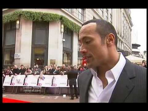 Dwayne The Rock Johnson Red Carpet Leicester Square London
