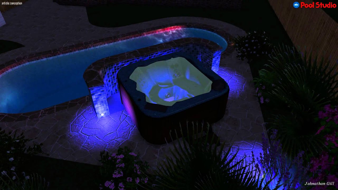 Jacuzzi Pool Youtube Add A Spa To A Pool