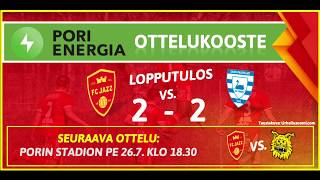 Pori Energia ottelukooste: FC Jazz - SalPa 14.5.2019