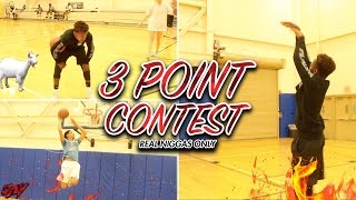 INSANE! IRL 3 POINT CONTEST! WHO'S CURRY?