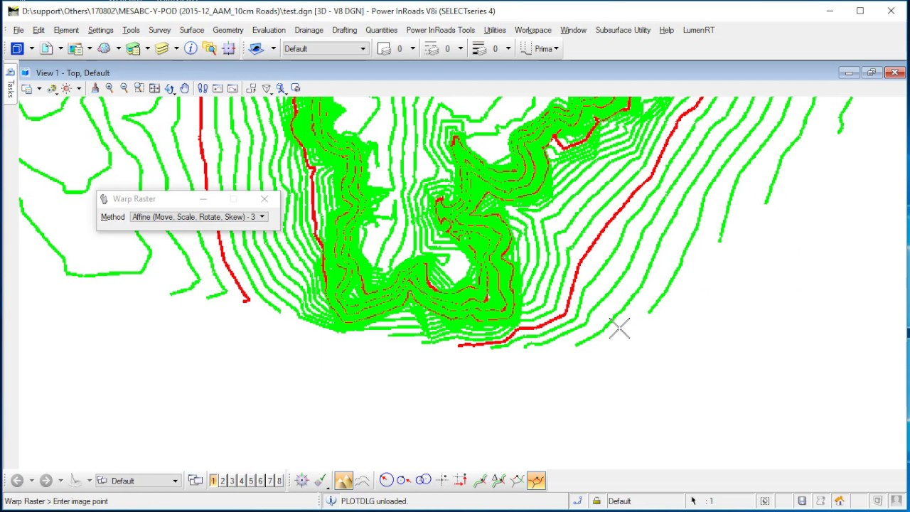 Create GeoTiff from Contour Map