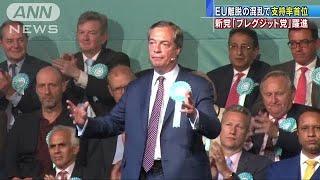 英 EU離脱の混乱で・・・新党「ブレグジット党」躍進(19/05/22)