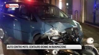 TG VICENZA (18/11/2017) - AUTO CONTRO MOTO, CENTAURO 61ENNE IN RIANIMAZIONE