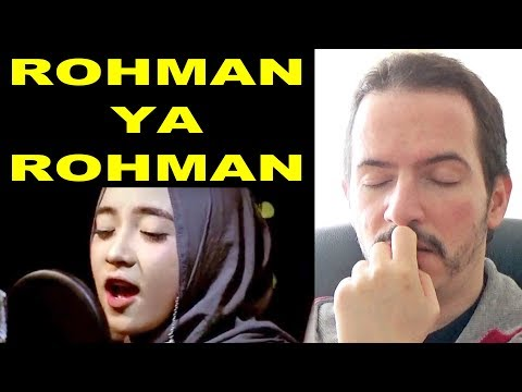 rohman ya rohman sabyan cover song video reaction review