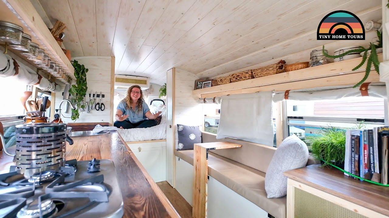 Her Gorgeous DIY $8k Mini Bus Tiny House - Lost Apartment - Found Freedom