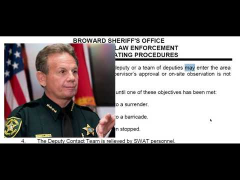 Broward Sheriff Office Policy Revealed - Deputy Did NOT Violate Policy By Not Entering School