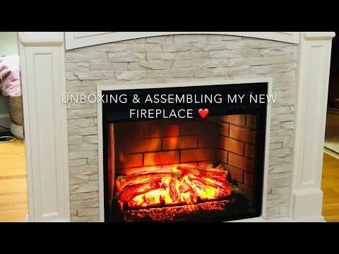Electric Fireplace Unboxing And Set Up
