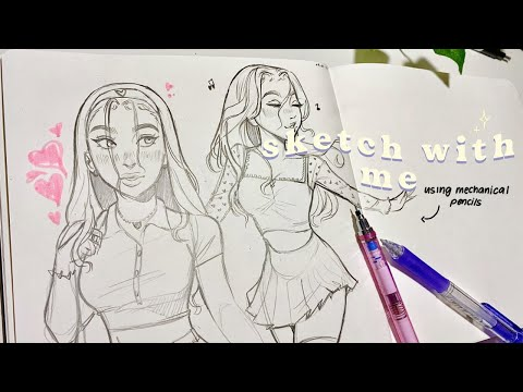 Sketch with me *chill* 🍥💕