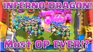 Clash Royale - *INFERNO DRAGON* Versus Golems and Giants!