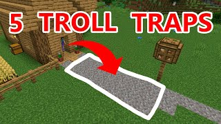 5 Traps to REVENGE TROLL your FRIENDS HOUSE in Minecraft 1.14 Survival