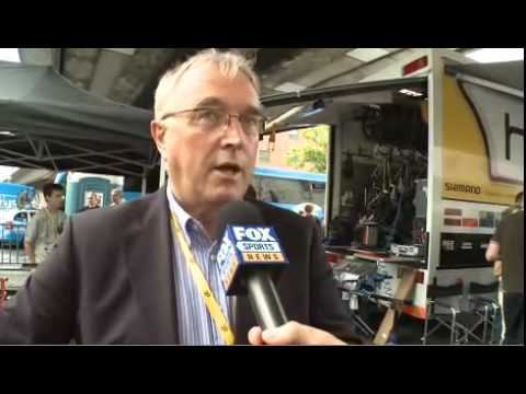 UCI President Pat McQuaid talks with ozcycling at the TDF prologue.
