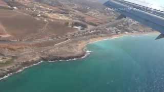 Греция Крит Посадка в Ираклионе ( Landing Heraklion )(Посадка самолета Boeing 737 в международном аэропорте Ираклион (Ηράκλειο) названного именем Никоса Казандзакис..., 2014-07-04T21:01:34.000Z)
