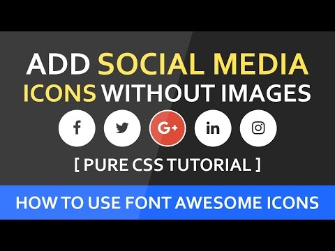 How To Add Social Media Icons Without Images - Font Awesome Icon Css Hover Effect - SUBSCRIBE Us