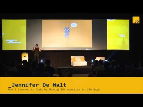 Jennifer De Walt: How I learned to Code by Making 180 websites in 180 days | JSConf.ar 2014