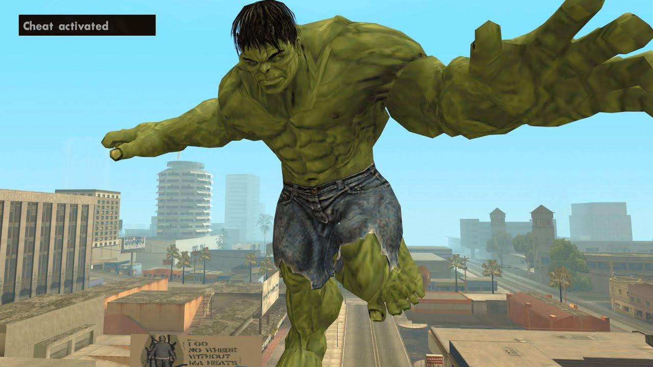 Secret Hulk Cheat Code in GTA San Andreas [ALL ABILITIES]