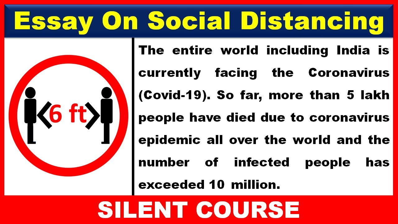 Download Essay on Social Distancing In English