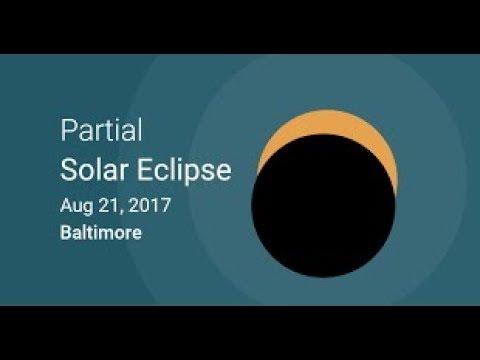 Baltimore Partial Solar Eclipse : August 21st, 2017