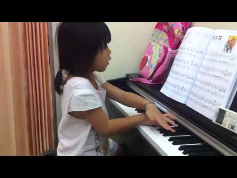 Livia Learns to Play Not So Hard (Flea Waltz Dance) on Piano
