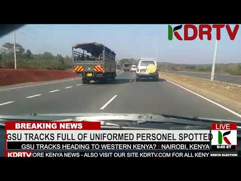 KTN KENYA NEWS - WHERE ARE THE GSU TRACKS FULL WITH SUSPICIOUS OCCUPANTS OR PERSONNEL HEADING TO?