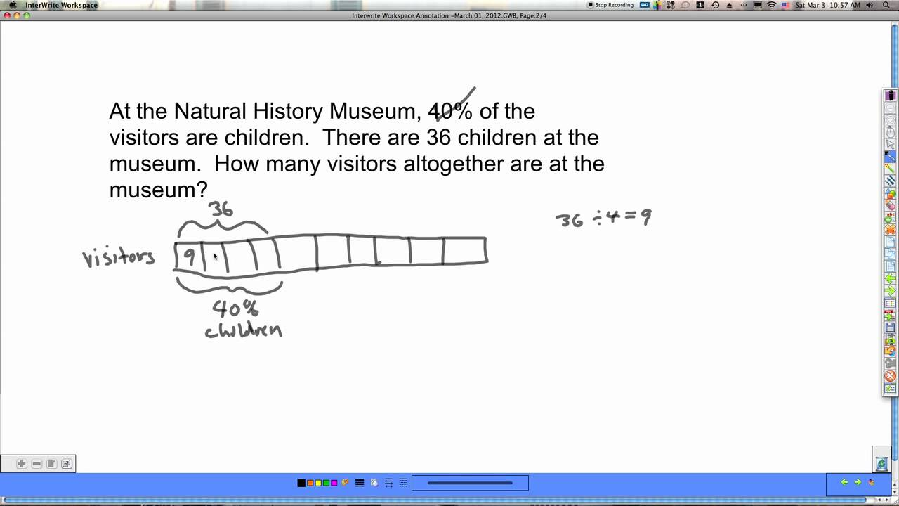 percent tape diagram [ 1280 x 720 Pixel ]