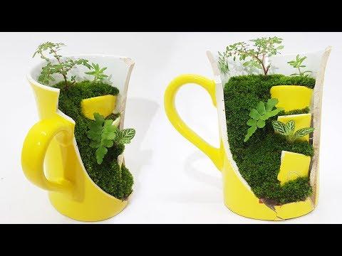 Cute Miniature Cup Garden | Miniature Garden in a Broken Teacup | Teacup Fairy Garden |DIY|