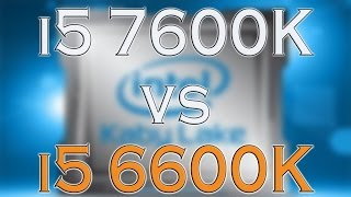 Intel i5 7600K vs 6600K BENCHMARK / GAMING TESTS REVIEW AND COMPARISON / Win 10