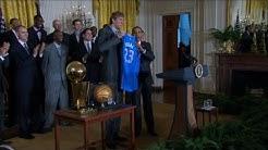 Dirk Nowitzki und die Mavericks zu Gast bei Obama im Weißen Haus
