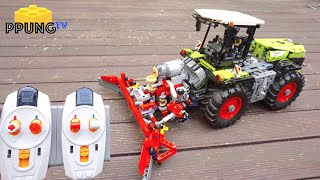 figcaption LEGO 42054 B-Model RC motorized Claas Xerion 5000 Trac VC by 뿡대디