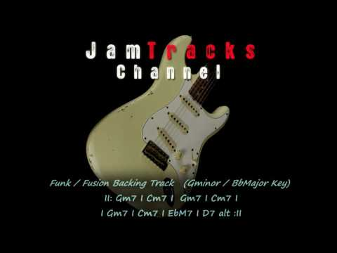 Funk Fusion Guitar Backing Track - JamTrackChannel -