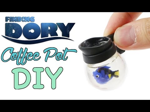 DIY Finding Dory Coffee Pot Figure Clay/Resin Tutorial