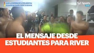 PARA RIVER: El mensaje de los jugadores de Estudiantes de Buenos Aires