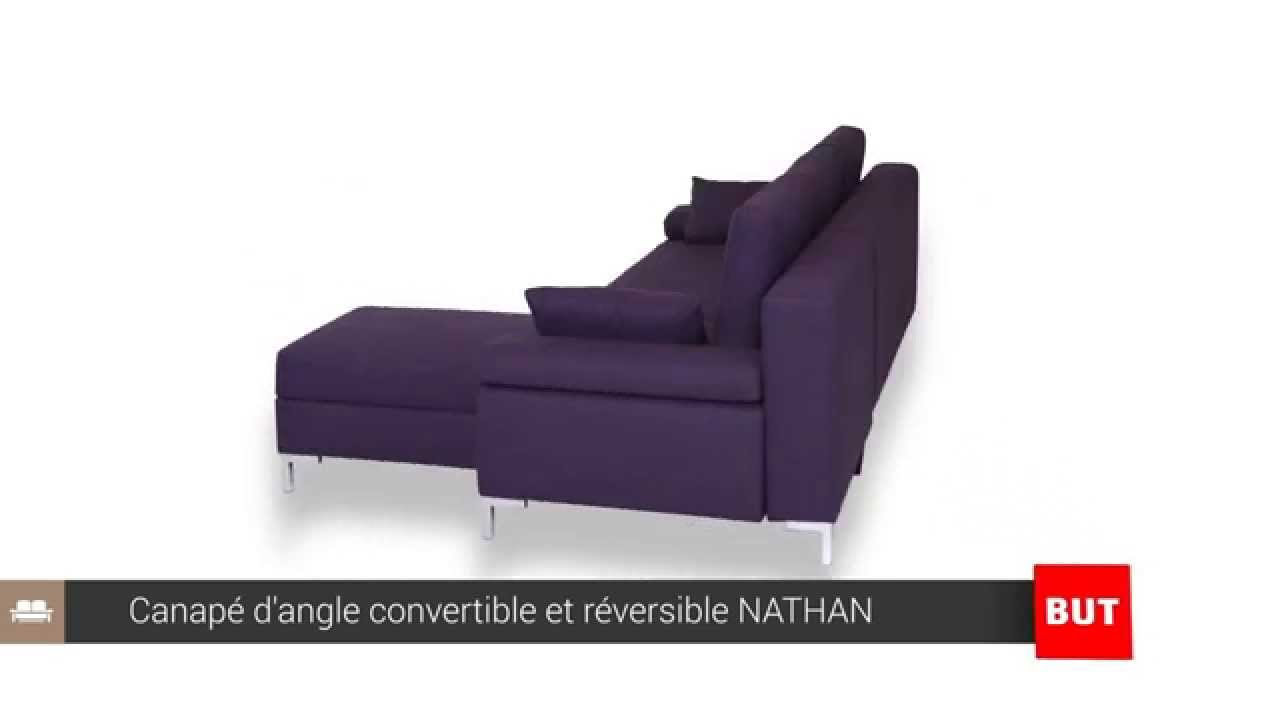 canap d 39 angle convertible et r versible nathan but youtube. Black Bedroom Furniture Sets. Home Design Ideas