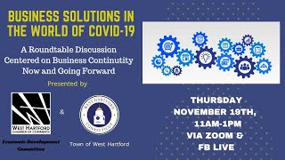 West Hartford Chamber of Commerce Presents: Business Solutions in the World of COVID-19