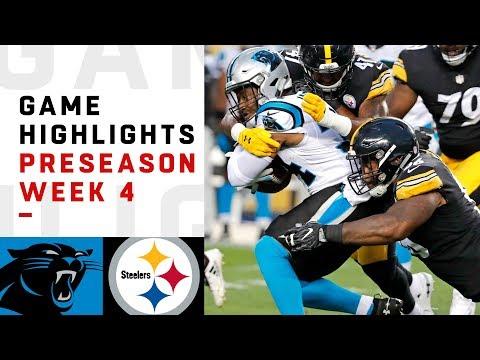 Panthers vs. Steelers Highlights | NFL 2018 Preseason Week 4