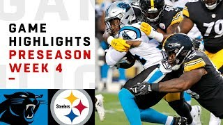 Panthers vs. Steelers Highlights | NFL 2018 Preseason Week 4