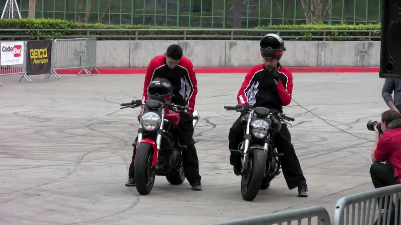 ducati stunt riders - youtube