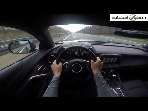 295 KM/H!!! CHEVROLET CAMARO FIFTY POV TOP SPEED AUTOBAHN