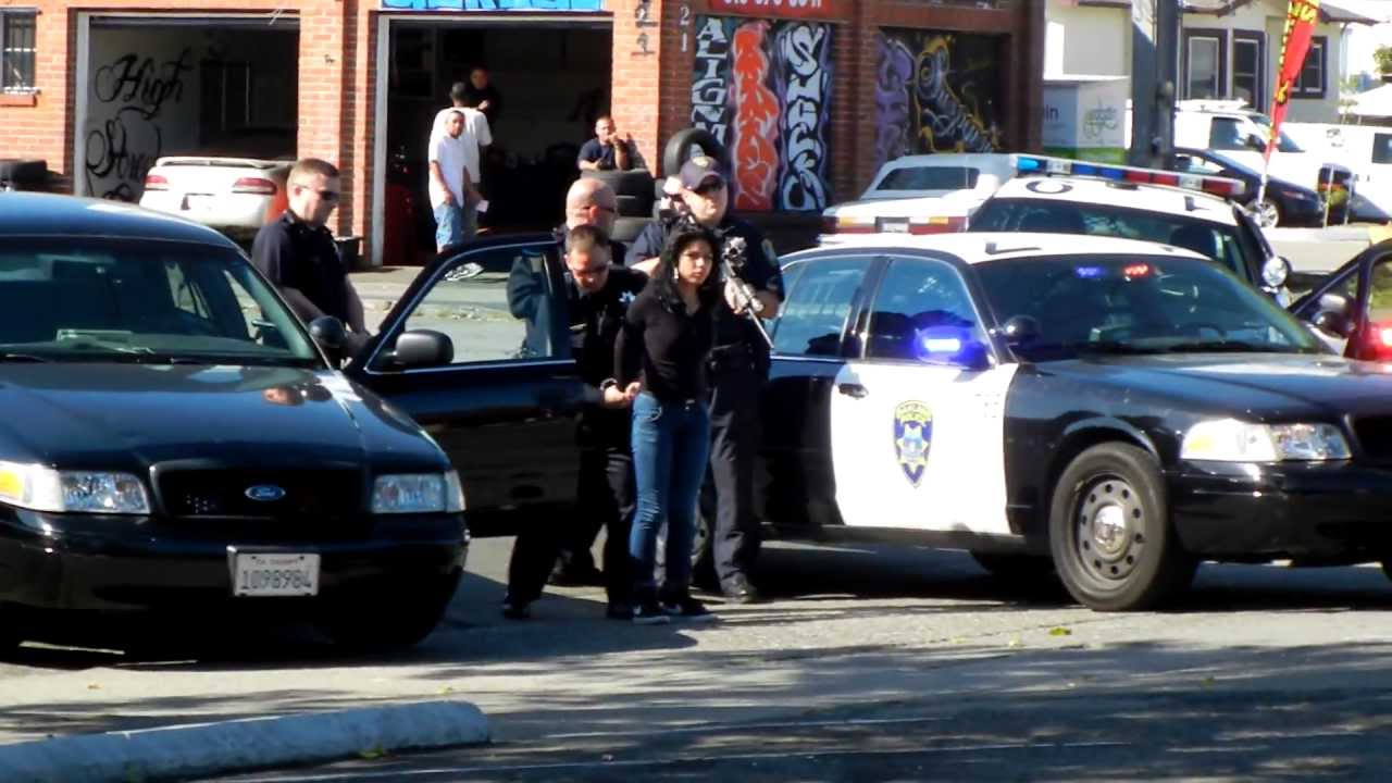 Teen caught by police hot latina