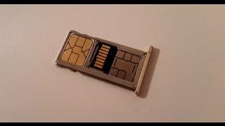 2 Сим + SD карта (2 sim + sd) симка и флешка в одном лотке