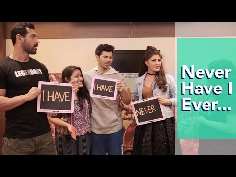 Never Have I Ever With Varun Dhawan, John Abraham & Jacqueline Fernandez | Dishoom | MissMalini