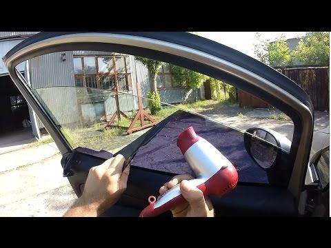 Как быстро снять тонировку со стекла автомобиля видео