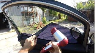 Как снять тонировку с авто за 5 минут. Передние стекла(Для того, чтобы пересечь границу, часто нужно пересмотреть плотность тонировки своего авто. Законы страны,..., 2016-08-04T15:54:00.000Z)