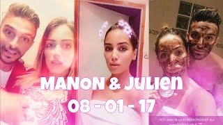 Manon Marsault & Julien Tanti - 08/01/17 - SnapStoryStars