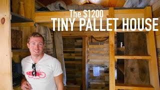 A $1200 14' Tiny House Made Of Pallet Wood!