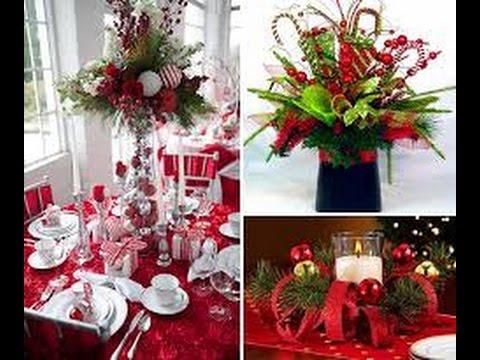 Como hacer un centro de mesa para navidad muy economico - Centros navidenos de mesa ...