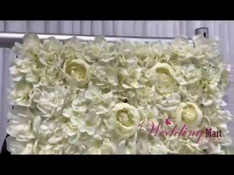 How To Make A Flower Wall Stand With Pipe And Drape System