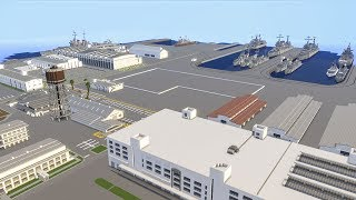 Minecraft Pearl Harbor Naval Base Map Review