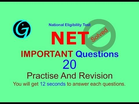 NET   Vol 20  Expected Questions NET Nov 2017 Paper  Sample  NET Exam