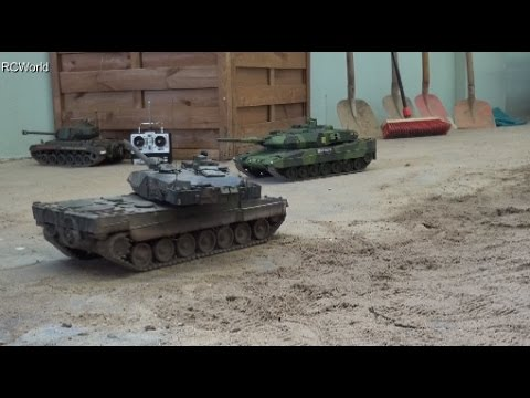 Leopard 2 Tanks Panzer Bundeswehr RC ♦ Treffpunkt Modellbau Paaren im Glien 2016 Modellbaumesse